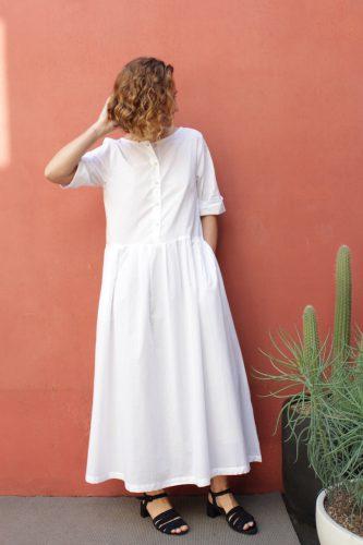 1 Momentum Dress White Kowtow Stockist Sydney Australia Poepke 1