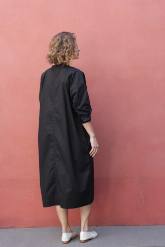 3 Stahl Housecoat Dress Black Kowtow Stockist Sydney Australia Poepke 1
