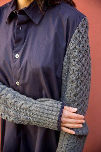shirt-with-cable-knit-sleeves-ys-by-yohji-yamamoto-stockist-sydney-australia-poepke-1
